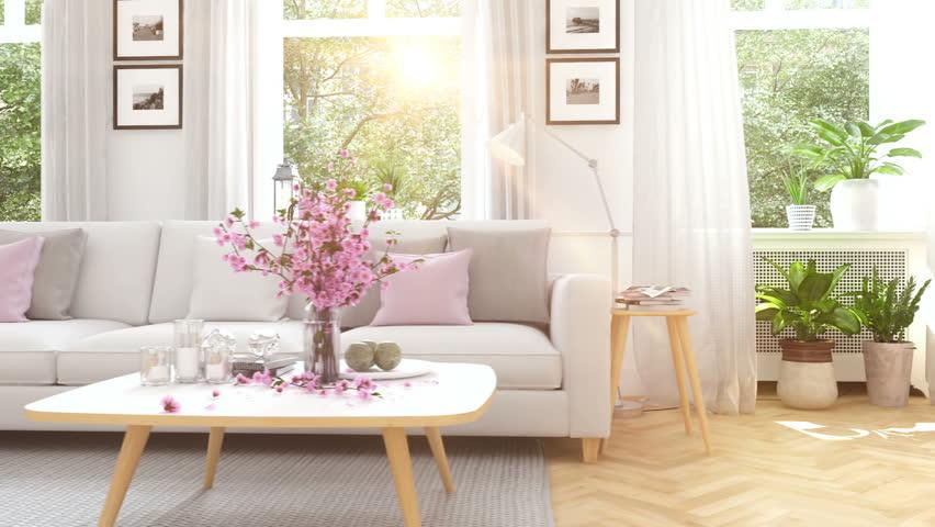 3d rendering. modern living room in townhouse. | Shutterstock HD Video #25280837