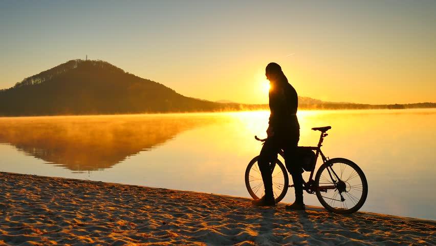 Bike Acrobatics At Sunset Stock Footage Video 10530092 Shutterstock