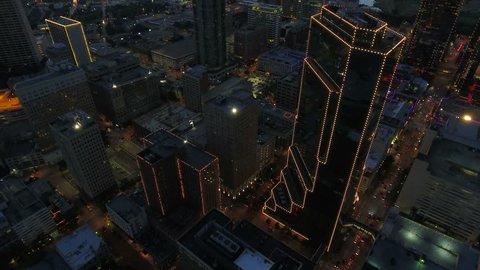 Aerial Texas Fort Worth September 2016 4K