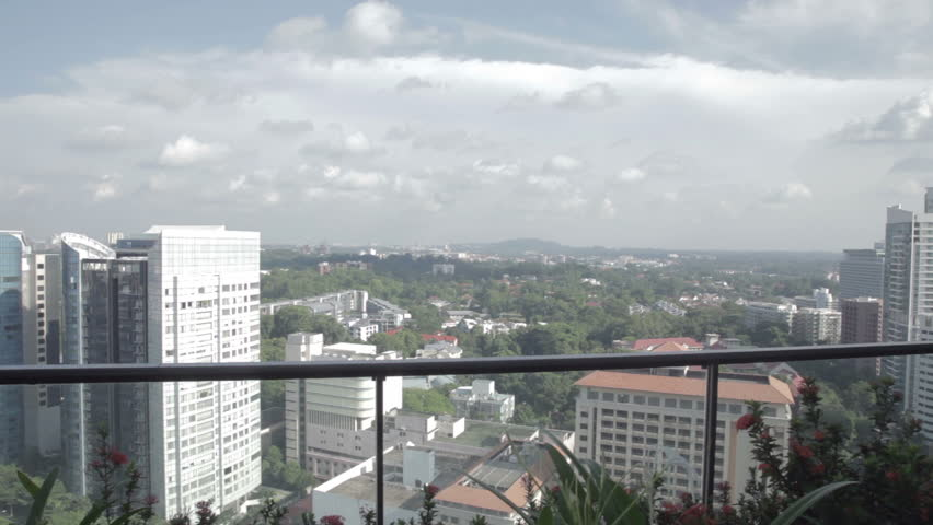 View on Singapore from balcony