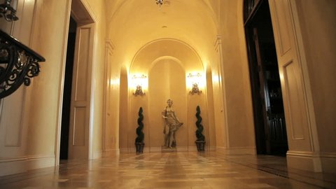 Formal entryway in an expensive home