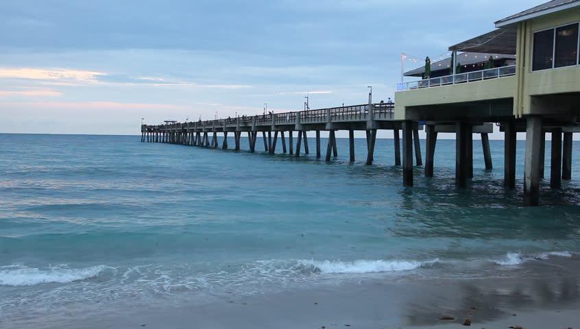 Dania Beach Fishing Pier In Stock Footage Video 100 Royalty Free