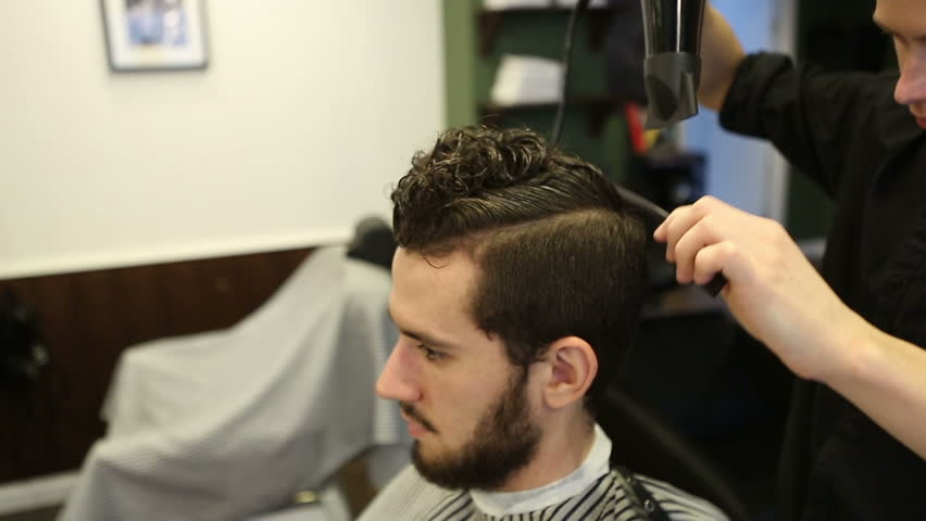 Barber Makes A Hair Clienthair Stock Footage Video 100 Royalty