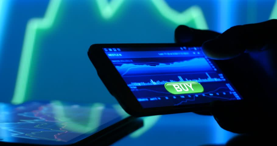 Bull market buy order of equity stocks and shares online investing. | Shutterstock HD Video #25509467