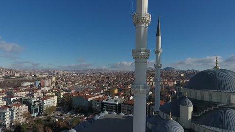 Ankara Turkey Kocatepe Mosque Drone
