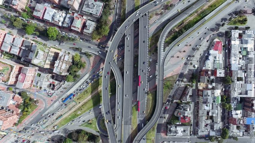 City Highway Overpass Bogota Autopista Norte, Public Transport