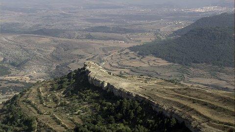 Landscape Of Ridged Fields And Villages Spain, Portell de Morella, Castellon-2007