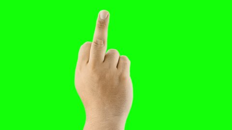 hand gesture meaning in western cultures Fuck you or fuck off isolated green screen