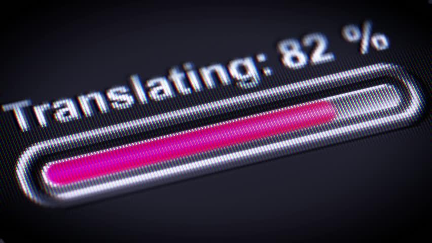 Process of Translating in A black Screen.   Shutterstock HD Video #25592567