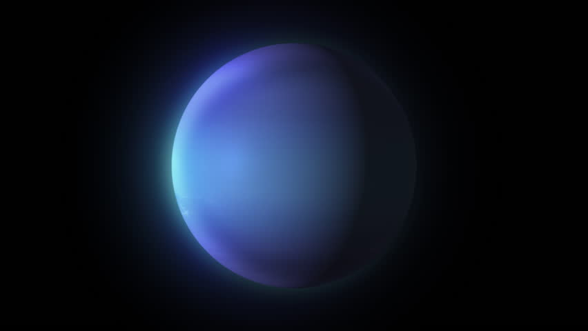 Rotation of Neptune around its own axis on black | Shutterstock HD Video #25649567