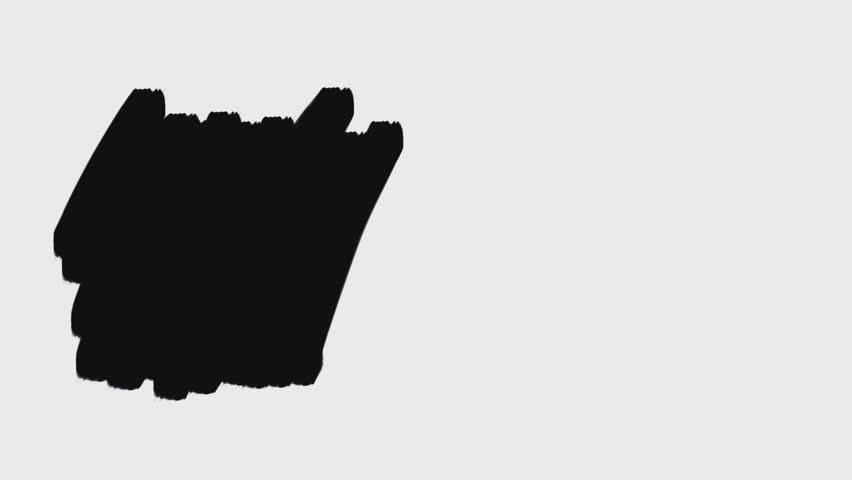 Motion Design Elements black paint brush strokes