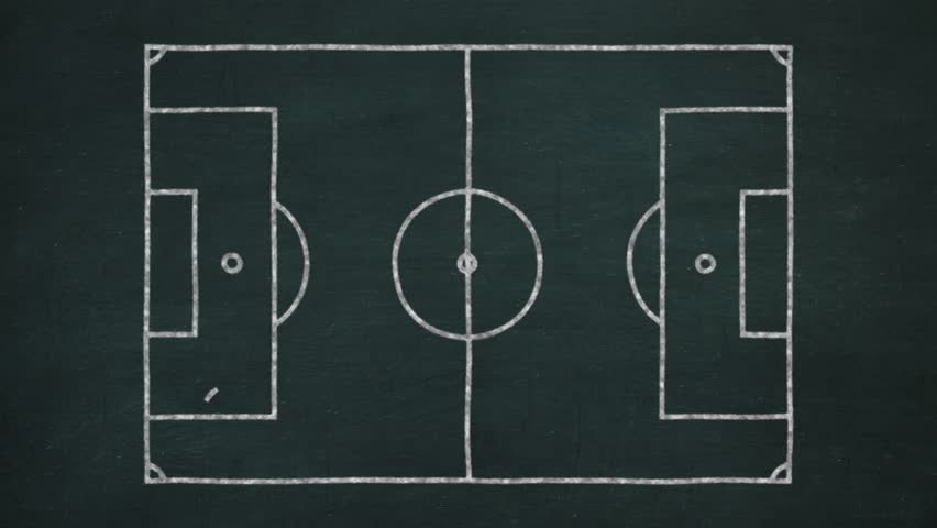 Blackboard with soccer strategies simulation for the attack | Shutterstock HD Video #25662722