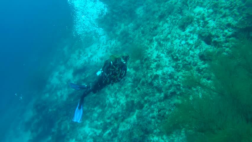Teen Boy Swimming Underwater In Pool Stock Footage Video -7989