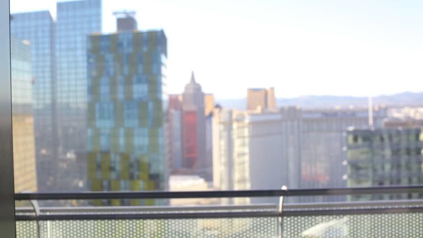 Colorful decorative rainbow tiles in a Las Vegas, Nevada hotel. | Shutterstock HD Video #25687187