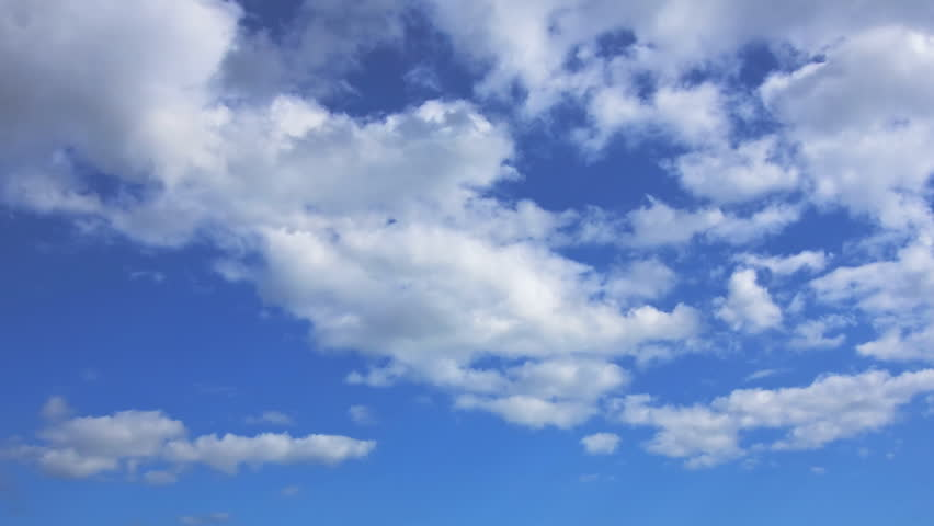 Timelapse of Clouds and Blue Sky