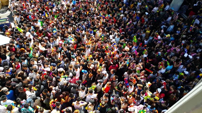 13-Apr-2017 Silom road, Bangkok Thailand, Songkran Festival at Silom #25864697