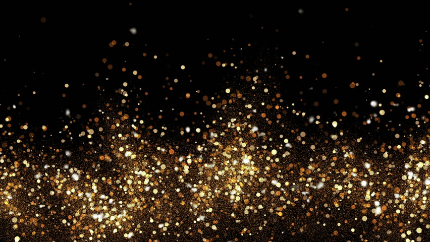 Abstract bokeh golden ember particles. HD animation with abstract sparkles. Motion background.
