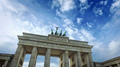 Walk through Brandenburger Tor, Berlin, Germany.