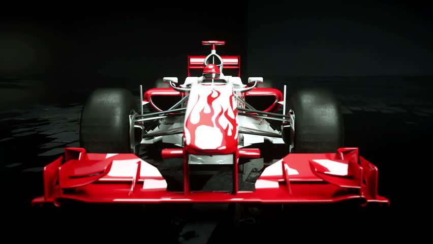 Race sport car in dark studio. realistic 4K animation. | Shutterstock HD Video #25925957