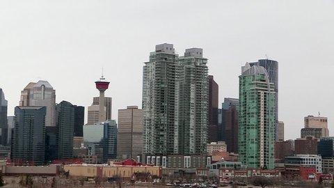 April 16, 2017 - Calgary, Alberta - Canada -  Calgary skyline