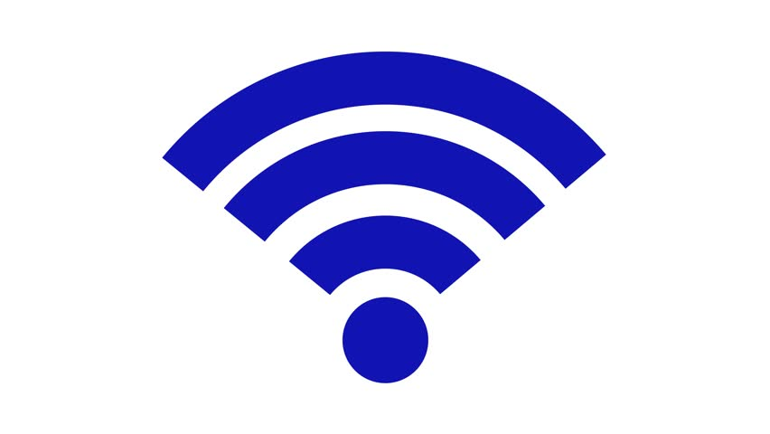Stock Video Of Wireless Network Icon Wi Fi Symbol Animation