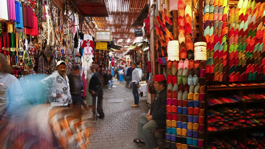 MARRAKESH, MOROCCO - CIRCA MAY 2011: Interior shot of the Souq in Marrakech, Morocco.