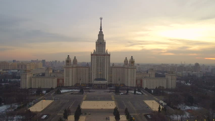 Panorama historical building in Moscow aerial view | Shutterstock HD Video #25987877