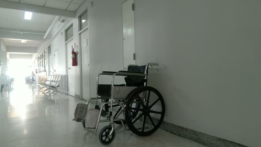 Standard manual wheelchairs are the most frequently use in hospital. | Shutterstock HD Video #26007308