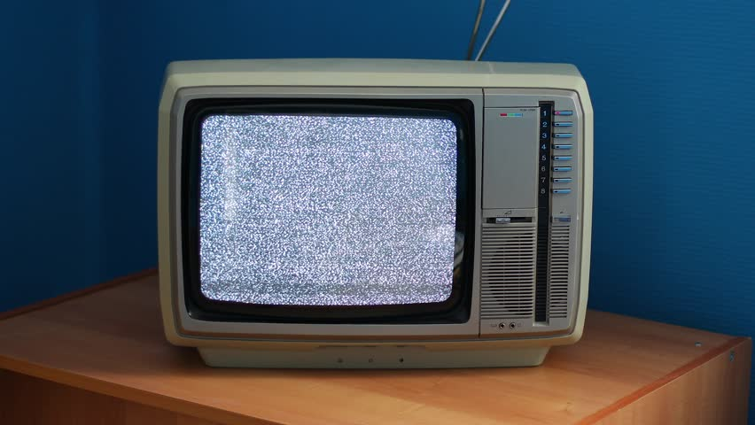 No signal just noise on old analogue TV set | Shutterstock HD Video #26057387