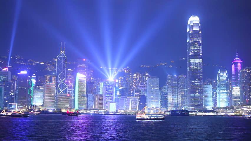 Hong Kong at night. Timelapse   Shutterstock HD Video #2611892