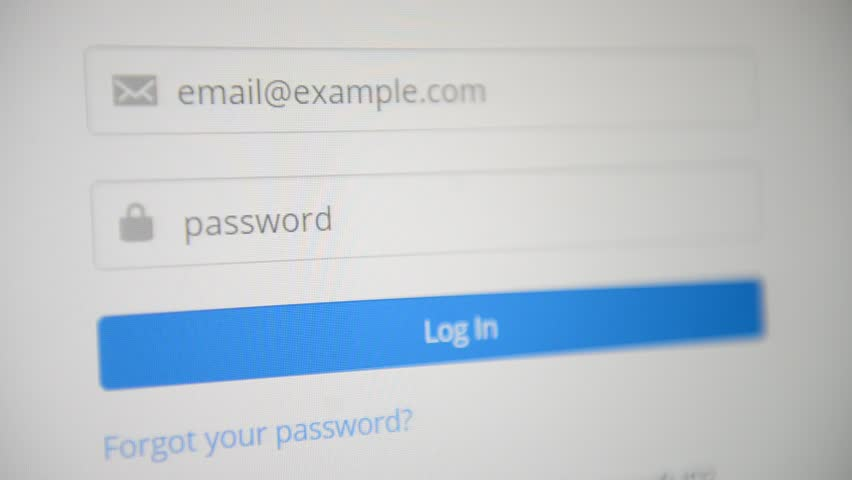 Log in to website entering email and password | Shutterstock HD Video #26125052
