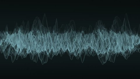 Reading of smooth vibrating spectrum. Loop ready animation of abstract waveform.