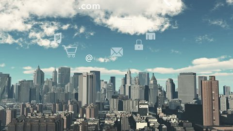 4k,Update the informative to cloud,download data to modern urban building,upload and downloading progress,web tech,virtual internet concept,on-line servicesicons floating up. cg_03874_4k