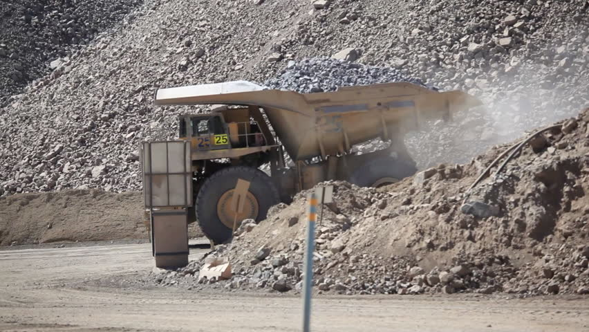 Haul truck in a Copper mine