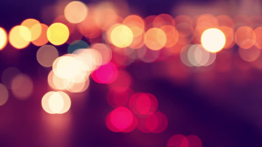 Night city is defocused with nice bokeh and typical city noise | Shutterstock HD Video #2628524