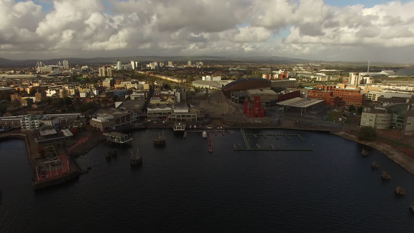 Cardiff Bay Water Front Aerial View