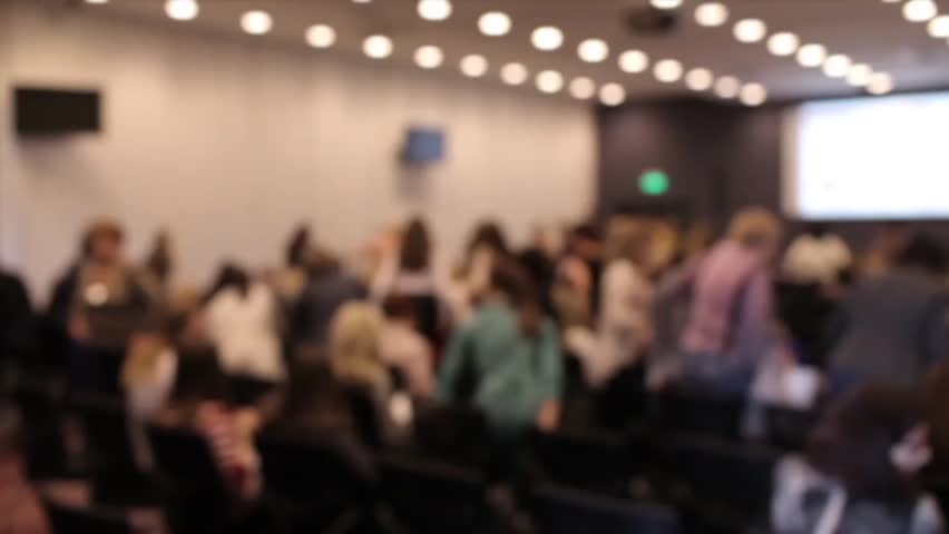 Blurred Conference Room, a Crowd of People Leave the Hall | Shutterstock HD Video #26389187