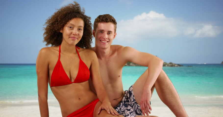 Interracial tropical vacation