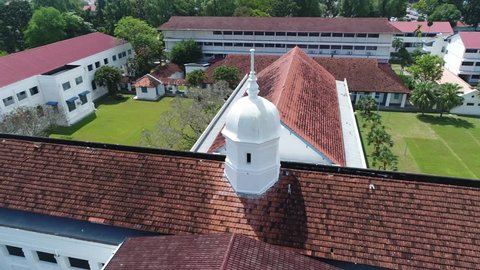 Aerial view of Penang Free School, George Town, Penang, Malaysia