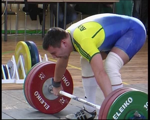 25 Oct, 2008, the Baltic States, competition in weightlifting. Athletes compete for the title of champion of Europe