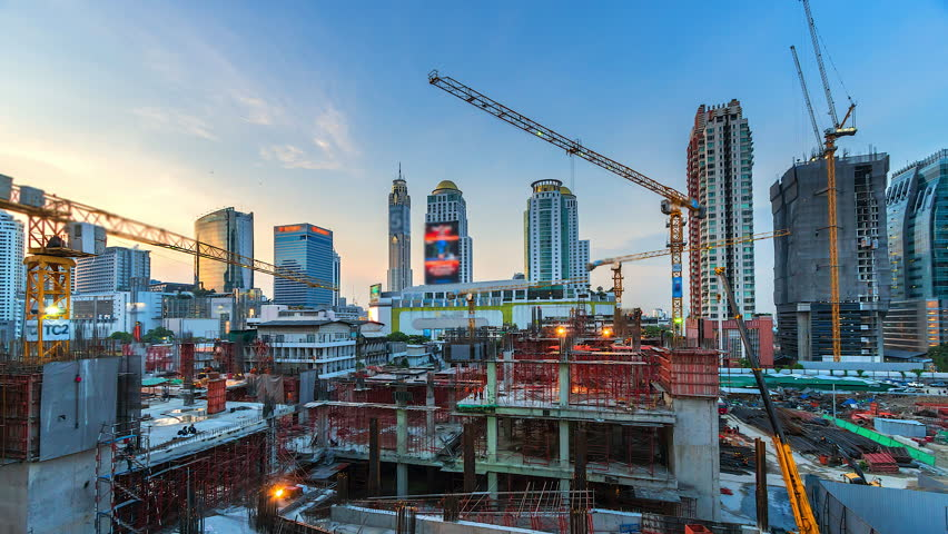 4K.Time lapse construction site in bangkok Thailand | Shutterstock HD Video #26528027