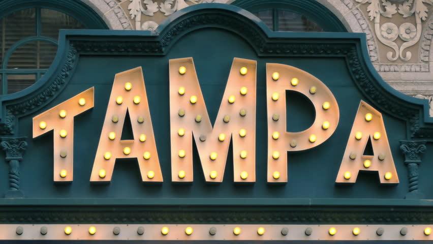Tampa, Florida vintage illuminated marquee sign