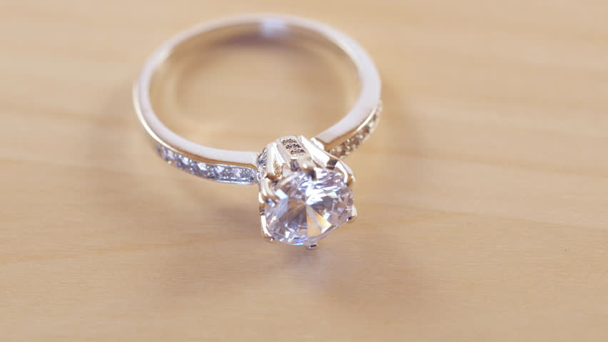Extreme Closeup Of A Synthetic Conflict Free Diamond Engagement Ring The Wedding Band