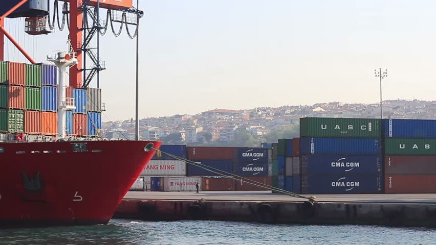 ISTANBUL - MAY 7: Container Ship, King Byron (IMO: 9357781, Marshall Is) with