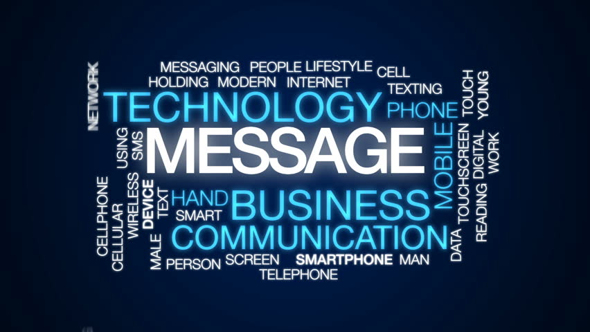 Message animated word cloud, text design animation.   Shutterstock HD Video #26672566