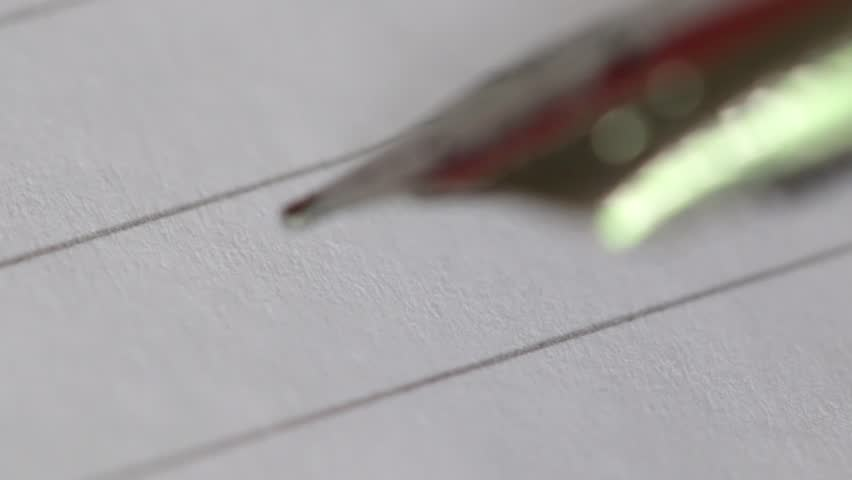 Writing the letter H | Shutterstock HD Video #26719417