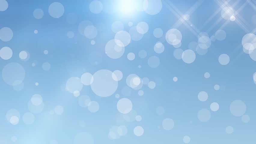 white sparkles blue background