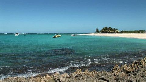 Recreational activities on Anquila Beach, Saint Martin
