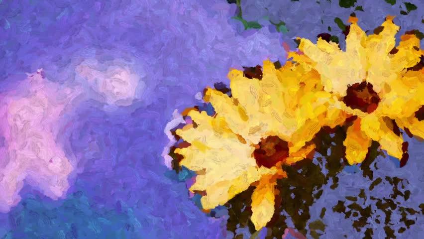 Yellow flowers float