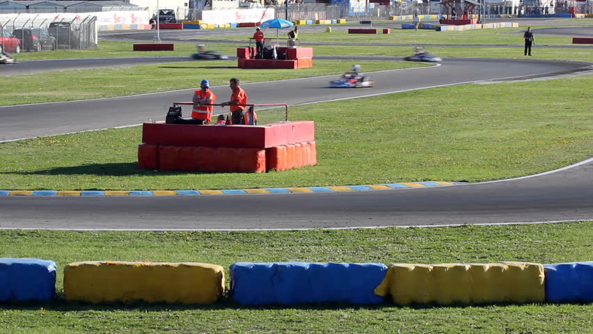 CASTELLETTO DI BRANDUZZO, PV, ITALY - MARCH 30: WSK Master Series (Karts race) Qualifying Practice Sessions International Circuit 7Laghi on March 30, 2012  in Castelletto di Branduzzo, PV, Italy.